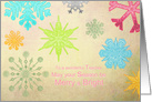 Merry & Bright - Teacher - Colorful Snowflakes card