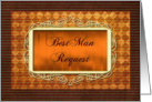 Best Man Request Invitation card