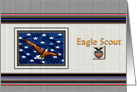 Eagle Scout Award Ceremony Invitation Eagle Flag Red White Blue card