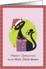 Merry Christmas to my Hair Care Professional, Santa Kitty - Mouse card
