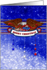 Merry Christmas - Eagle - Red White Blue card