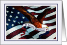 Christmas - Eagle - Patriotic - Red White Blue card