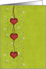 Note Card - Hearts - Rhinestones card