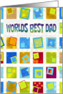 Father's Day - Dad - Retro - Squares card