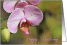 Happy Birthday Pink Orchid Card
