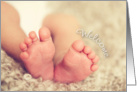 Welcome Baby Toes card