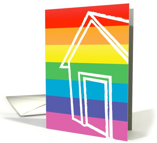 Congratulations on your new home! : rainbow house card