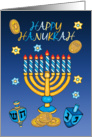 Hanukkah Greeting Card With Menorah card