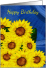 Sunflower Birthday Greeting Card - Digitally Painted card