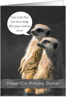 Meerkat 50th Birthday Card For Brother card