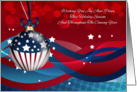 Business Stylish Holiday Season, With Flag Ornament And Stylish Lines card