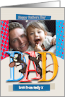 modern dad father's day card with mouse - photo card