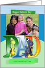 modern dad father's day card with dragon - photo card