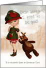 Sister, Dear Santa Retro Cute Christmas Card