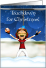 Touchdown For Christmas - American Football Holiday Card