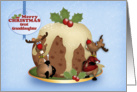 Great Granddaughter Reindeer And Pudding Christmas Card