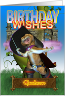 Godson Birthday Wishes, Puss In Boots, Magical Collection card