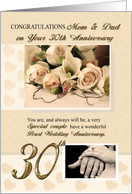 30th Pearl Anniversary Mom and Dad card