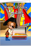 Godson Birthday Card Pirate Treasure card