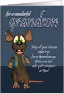 Grandson Birthday Card - With Funky Mouse card