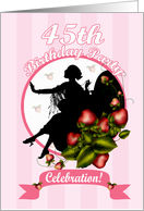 45th Birthday Party Invitation card