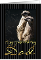 Dad Birthday Card With meerkat card