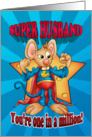 Father's Day Card - Super Husband Mouse - One In A Million card
