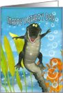 Crocodile Father's Day Card - Snappy Father's Day card