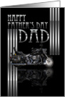Dad Father's Day Card With Motorbike card