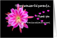 PARENTS - Wedding Thank You card