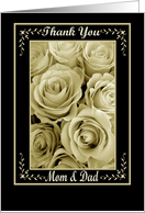 PARENTS - Thank You - Wedding card