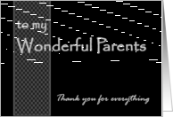 Groom's Parents - Wedding Thank You card