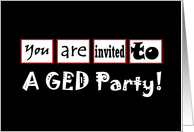 GED Party Invitation card
