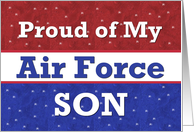 Proud of my AIR FORCE Soldier SON card