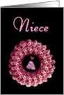 NIECE - Be My Junior Bridesmaid - Rose Wreath card