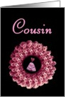 COUSIN - Be My Junior Bridesmaid - Rose Wreath card