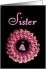 SISTER - Be My Bridesmaid - Rose Wreath card