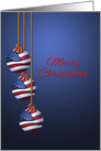 Patriotic Merry Christmas U.S. Flag Ornaments card