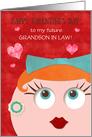 Future Grandson in Law Custom Valentine's Day Retro Grandma card