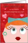 Future Granddaughter Custom Valentine's Day Retro Grandma and Earrings card