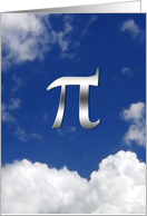 Happy Pi Day March 14th 3.14 Pi in the sky card