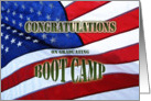 Boot Camp Graduation Congratulations- American Flag card