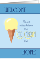 Summer Camp Welcome Home Ice Cream Cone card