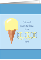 Summer Camp Thinking of You Ice Cream Cone card
