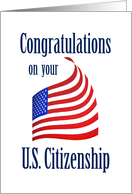Congratulations on your US Citizenship card