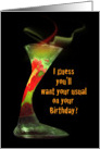Happy Birthday 'Enchanted' cocktail card