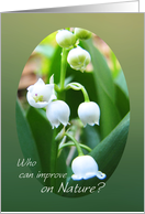 Cosmetologist Congratulations Graduation Lily of the Valley card
