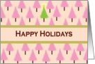 Happy Holidays Bling for the Fashion Diva with jewel effect snowflakes card