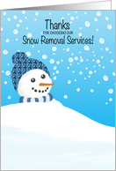 Thank you Customer Snow Removal Service card