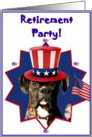 Retirement party invitation boxer dog card